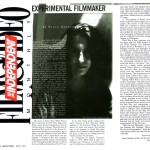Interview in the Independent Film and Video Monthly
