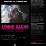 Lynne Sachs Screening and Lecture at Wellesley College