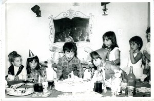 A birthday party snapshot I found in an antique shop.