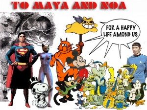 Chris Marker Makes a Special Guillaume cat cartoon for Maya & Noa Street-Sachs
