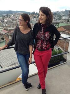 Alex Cuesta and Lynne Sachs in Quito, Ecuador
