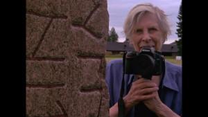Gunvor Nelson w camera in Kristinehamn Sweden by Lynne Sachs 2015