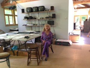Carolee Schneemann in studio by Lynne Sachs