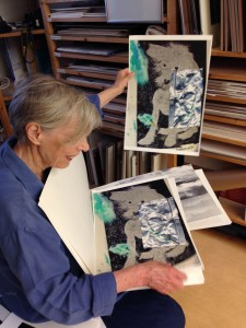 Gunvor Nelson in studio by Lynne Sachs