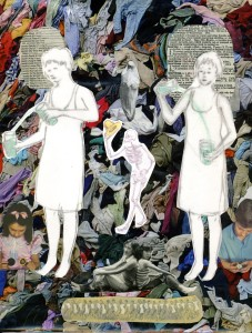Two Women Laundry Collage Lynne Sachs
